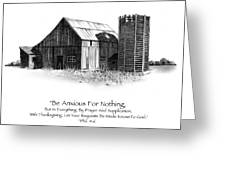 Pencil Drawing Of Old Barn With Bible Verse Greeting Card
