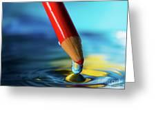 Pencil Drip Greeting Card