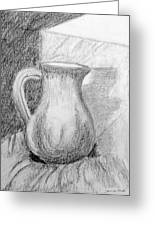 Pencil Pitcher Greeting Card