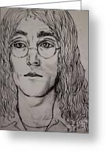 Pencil Portrait Of John Lennon  Greeting Card