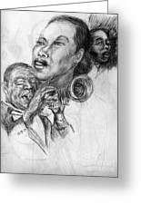 pencil study for Satchmo Lady Day and Nina Simone Greeting Card