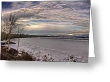 Pend D'oreille Lake Panorama Greeting Card