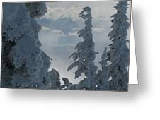 Pend Oreille Thru Fog Greeting Card