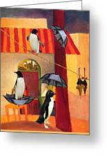 Penguin Cafe Greeting Card