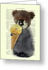 Penguin Ice Cream Greeting Card