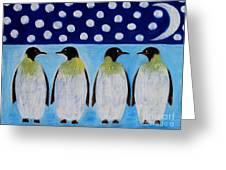 Penguins Talking Greeting Card