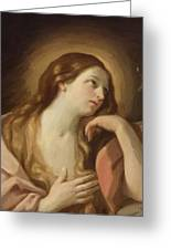 Penitent Mary Magdalene Greeting Card