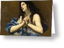 Penitent Saint Mary Magdalene Greeting Card