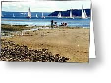 Penn Cove Clamming Greeting Card
