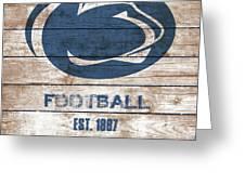 Penn State // Football // Distressed Wood Greeting Card