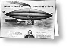 Penningtons Airship, 1850 Greeting Card