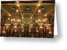 Pennsylvania Senate Chamber Greeting Card by Shelley Neff