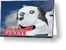 Penny Dog Food Sign 3 Greeting Card