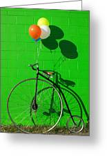 Penny Farthing Bike Greeting Card by Garry Gay