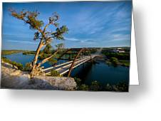 Pennybacker Bridge 2 Greeting Card