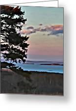 Penobscot Bay At Dusk Greeting Card