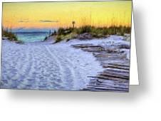 Pensacola Beach Orange Greeting Card