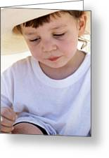 Pensive Innocence  Greeting Card