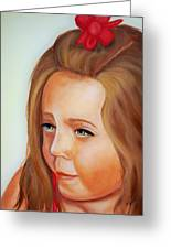 Pensive Lass Greeting Card by Joni McPherson
