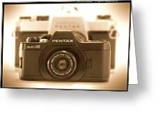 Pentax 110 Auto Greeting Card