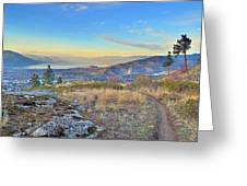Penticton In The Distance Greeting Card