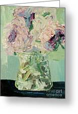Peonies Bouquet Greeting Card