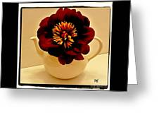 Peony In A Tea Kettle Greeting Card