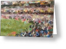People In A Stadium Greeting Card