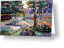 People In Landscape Greeting Card