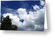 People In The Clouds Greeting Card