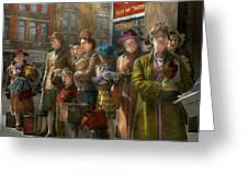 People - People Waiting For The Bus - 1943 Greeting Card