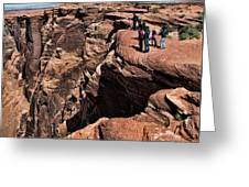 People View Horseshoe Bend Rock Edge  Greeting Card