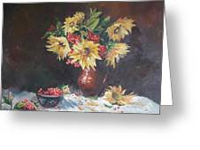 Still-life With Sunflowers Greeting Card