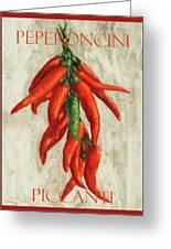 Peperoncini Piccanti Greeting Card