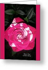 Peppermint Rose Greeting Card