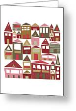 Peppermint Village Greeting Card