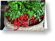Peppers In A Basket Greeting Card