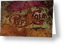 Pepsi Cola Vintage Sign 5a Greeting Card