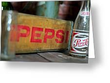 Pepsi Crate Greeting Card