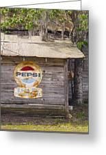 Pepsi Sign Greeting Card