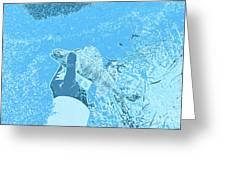 Perch Blue Greeting Card