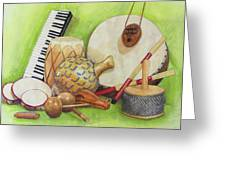 Percussion Greeting Card