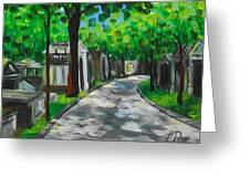 Pere Lachaise Cemetery Greeting Card