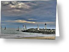 Perfect Beach And Smooth Sailing Greeting Card