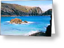 Perfect Blue Water Greeting Card