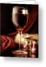 A Perfect Glass Of Wine Greeting Card