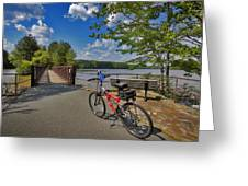 Perfect Weather For Cycling At Lake Brandt Greeting Card