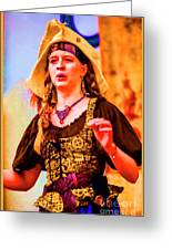 Performer Singing On Stage - In Watercolor Photo Greeting Card