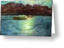 Perfume River By Moonlight Greeting Card