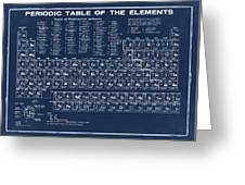 Periodic Table Of Elements In Blue Greeting Card